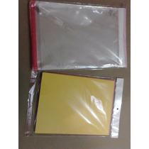100 Sobres De Celofan Con Tira Adesiva Tamaño Carta 22 X 30