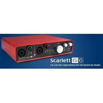 Focusrite Scarlett 6i6 Interfaz Audio Usb Para Profesionales