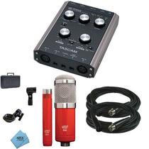Tascam Us 144mkii Interface Audio + 2 Microfonos Mxl 550/551