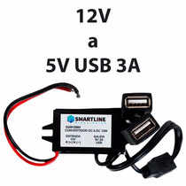 Convertidor De Voltaje 12v A 5v Usb 3a