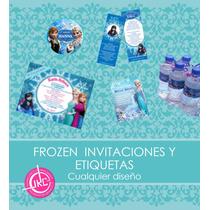 Kit Frozen Invitaciones Y Etiquetas Personalizado
