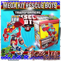 Transformers Rescue Bots Invitaciones Kit Imprimible Jose