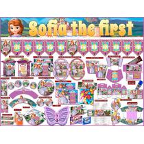 2 X 1 Kit Imprimible Princesita Sofia, 3 Invitaciones Powpt