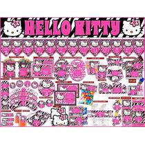 2 X 1 Kit Imprimible Hello Kitty Zebra, 3 Invitaciones Powpt