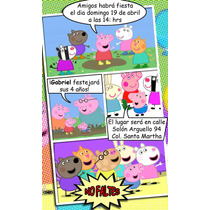 Invitacion Comic Personalizada Mide 9.5x14.5cm (30 Pieza)