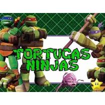 Kit Imprimible Tortugas Ninja Diseña Tarjetas Cumples Y Mas