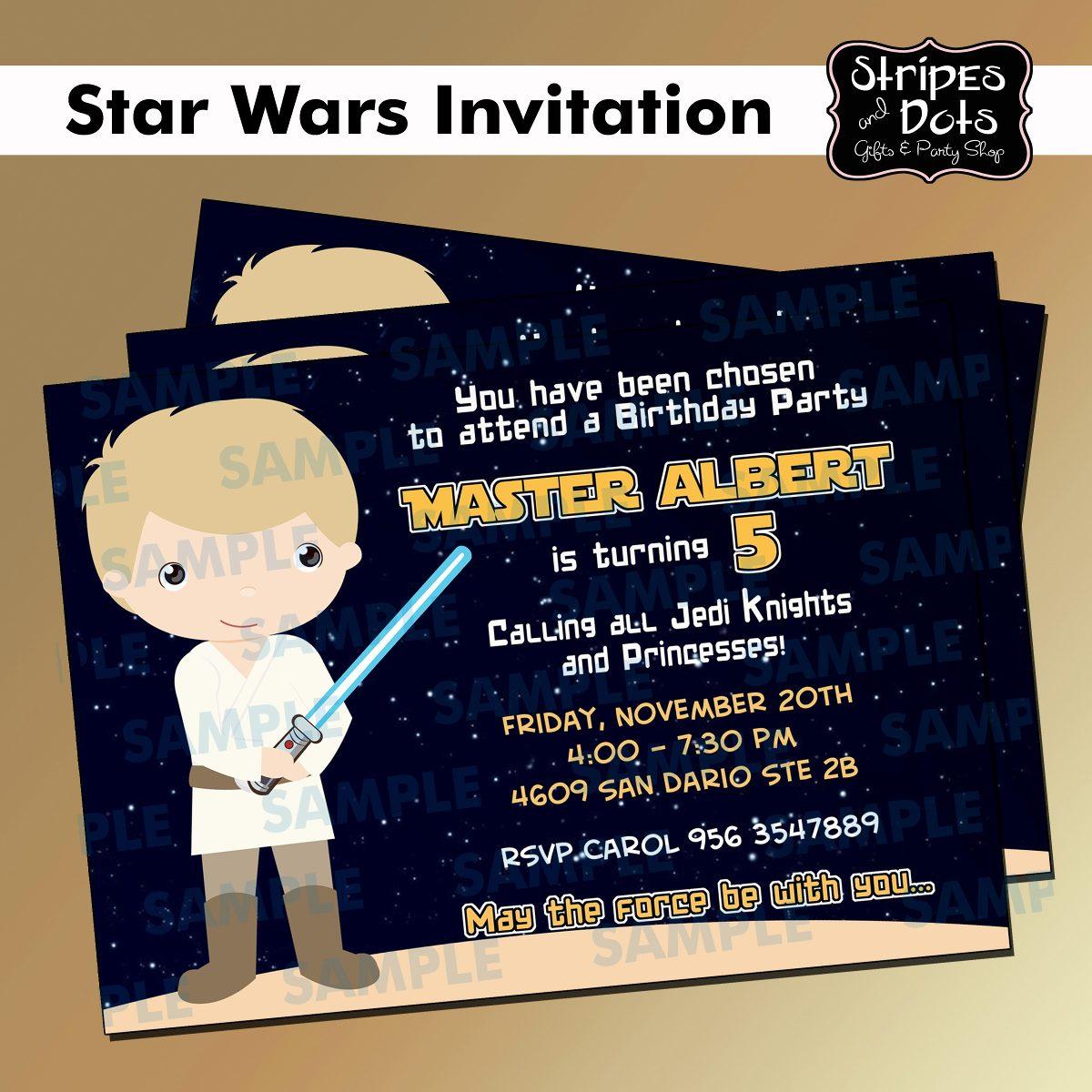 Star Wars Birthday Invitation with amazing invitation example