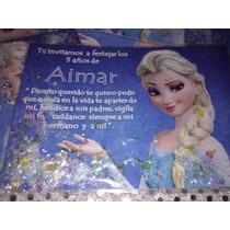 Invitacion Elsa Frozen Con Confetti Metalico