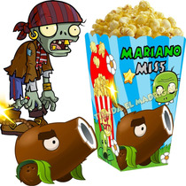 Kit Imprimible Zombies Vs Plants Candy Bar Golosinas