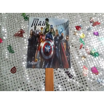 12 Invitaciones Tipo Abanico Avengers