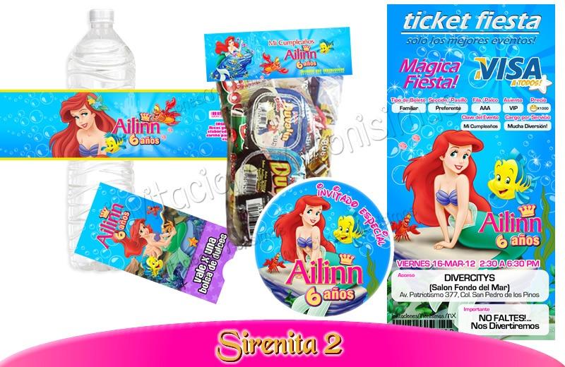 Invitaciones Gratis De La Sirenita Ariel Imagui