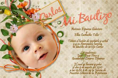 Formatos para realizar invitaciónes de bautizo - Imagui
