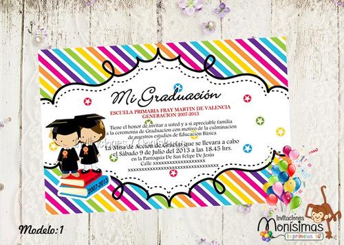 Invitación para graduación infantil - Imagui