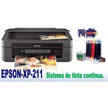 Multifuncional Epson Xp211 + Sistema Continuo + Tintas