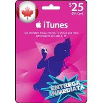 Tarjeta Gift Card Itunes Canada $25 Usd Iphone Ipad Ipod Mac