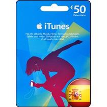 Tarjeta Gift Card Itunes España 50 Euros Ipod Ipad Iphone