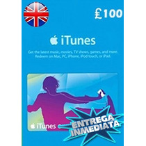 Tarjeta Gift Card Itunes Inglaterra Uk 100£ Iphone Ipad Ipod