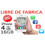 Iphone 4s Libre De Fabrica+ Regalos (super Oferta)