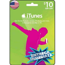 Tarjeta Gift Card Itunes De 10 Usd Para Iphone Ipad Ipod Mac