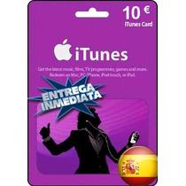 Tarjeta Gift Card Itunes España 10 Euros Ipod Ipad Iphone