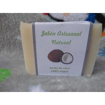 Jabon Artesanal Puro De Aceite De Coco Virgen Neutro