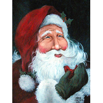 Un Pequeño Pájaro Me Dijo Santa Claus Bandera Verde Superf