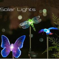 Esky Solar Powered Colibrí, Mariposa Y La Libélula Jardín L