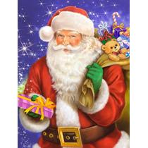 Navidad Santa Claus Listo Para Trabajar La Bandera Verde Sup