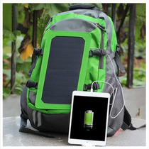 Mochila Con Cargador Solar Portable 1200mah 6w