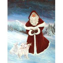 Un Espíritu De Armonía Santa Claus Bandera Verde Superfici