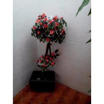 Arbol Topiario Floral Artificial