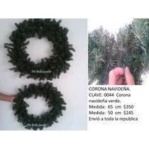 Corona Navideña Verde Decorativa Sp0