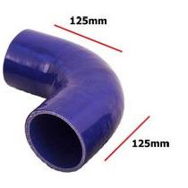 Tubos Flexibles Silicona - Azul 90 Grado Universal Azul Pipe
