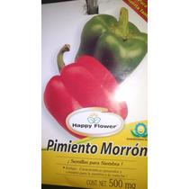 500mg Semillas De Pimiento Morron Chile Rojo - Para Cultivo