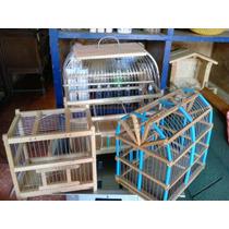 Jaula De Madera Para Aves/ Pájaros Jaula De Viaje Chica