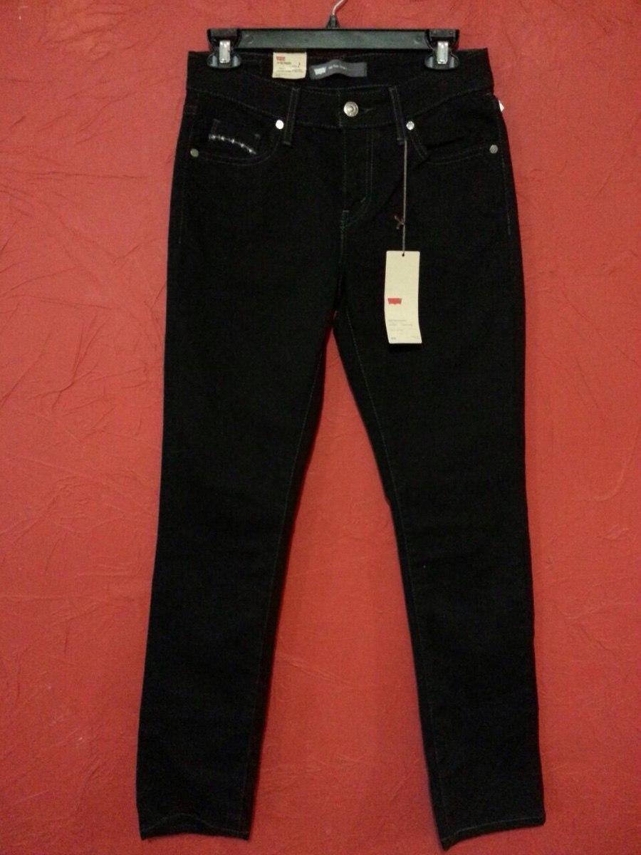 jeans pantalon levis negro skinny stretch casual urbano en mercadolibre. Black Bedroom Furniture Sets. Home Design Ideas