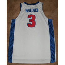Jersey Nba, Big Ben Wallace, Pistons, Nike, Talla 52, Bordad