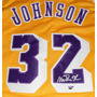 Jersey Autografiado Firmado Magic Johnson Los Angeles Lakers