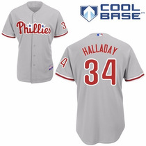 Majestic Jersey Philadelphia Phillies #34 Roy Halladay 48
