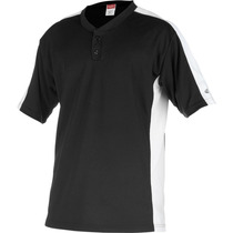 Rawlings Jersey 2 Button Planket Pro Dri Ss Nuevo Negro M