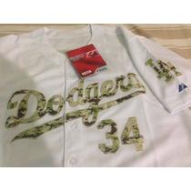 Jersey De Beisbol Dodgers De Los Angeles #34 Valenzuela