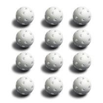 12 White Poli Baseballs (reglamento Size) Por Crown Artículo