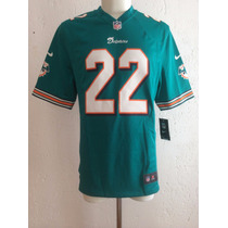Jersey Miami Dolphins Local #22 Bush Temporada 2012 Nike Nfl