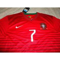Portugal Local Version Jugador Mundial 2014 Ronaldo Jersey