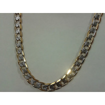 Cadena Collar Oro Laminado18k Diamantada 60cm X 8mm