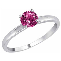 Anillo De Oro Blanco De 14k Con Topacio Natural Rosa 2.10 Ct