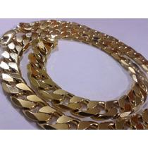 Cadena Gruesa 60cm X 12mm Oro Laminado 18k Incluye Estuche!