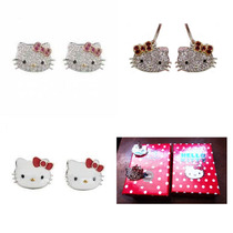 Originales Sanrio Hello Kitty Aretes Con Caja