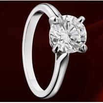 Anillo Compromiso Diamante Natural .15ct (puntos) Oro 14 Kt.