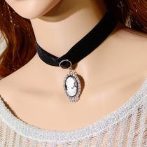 Collar Gotico Con Camafeo Lolita Sexy, Op4
